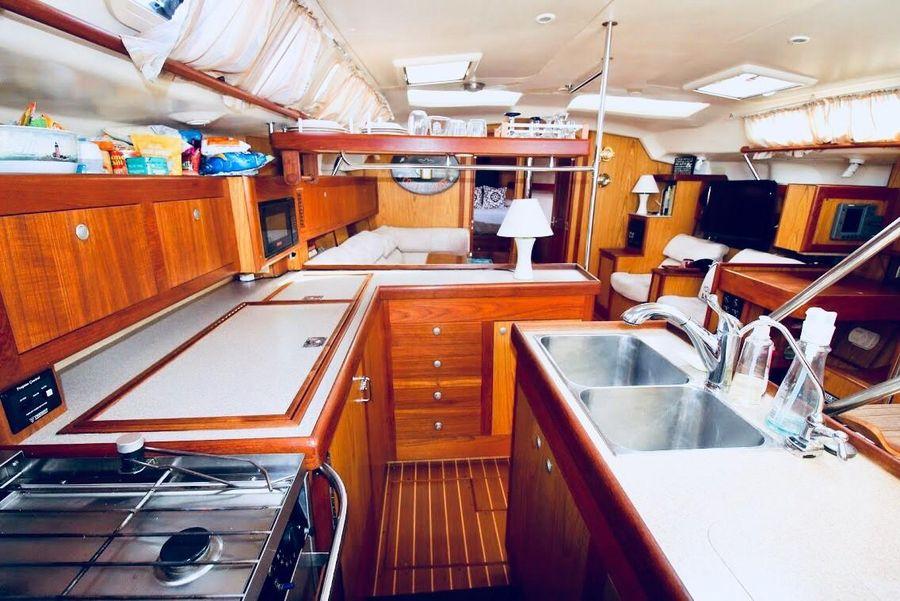 Hunter 460 Sailboat Galley