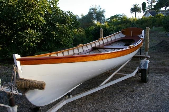 1979 Whitehall Wooden Row Boat Power For Sale