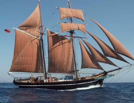 1900 Tall Ship, Baltic Trader Tops'l Gaff Schooner