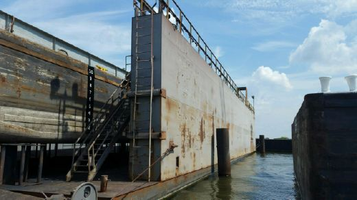 2011 160' X 60 Floating Dry Dock 1600 Ton Lift Capacity - 52' Between Wing Walls