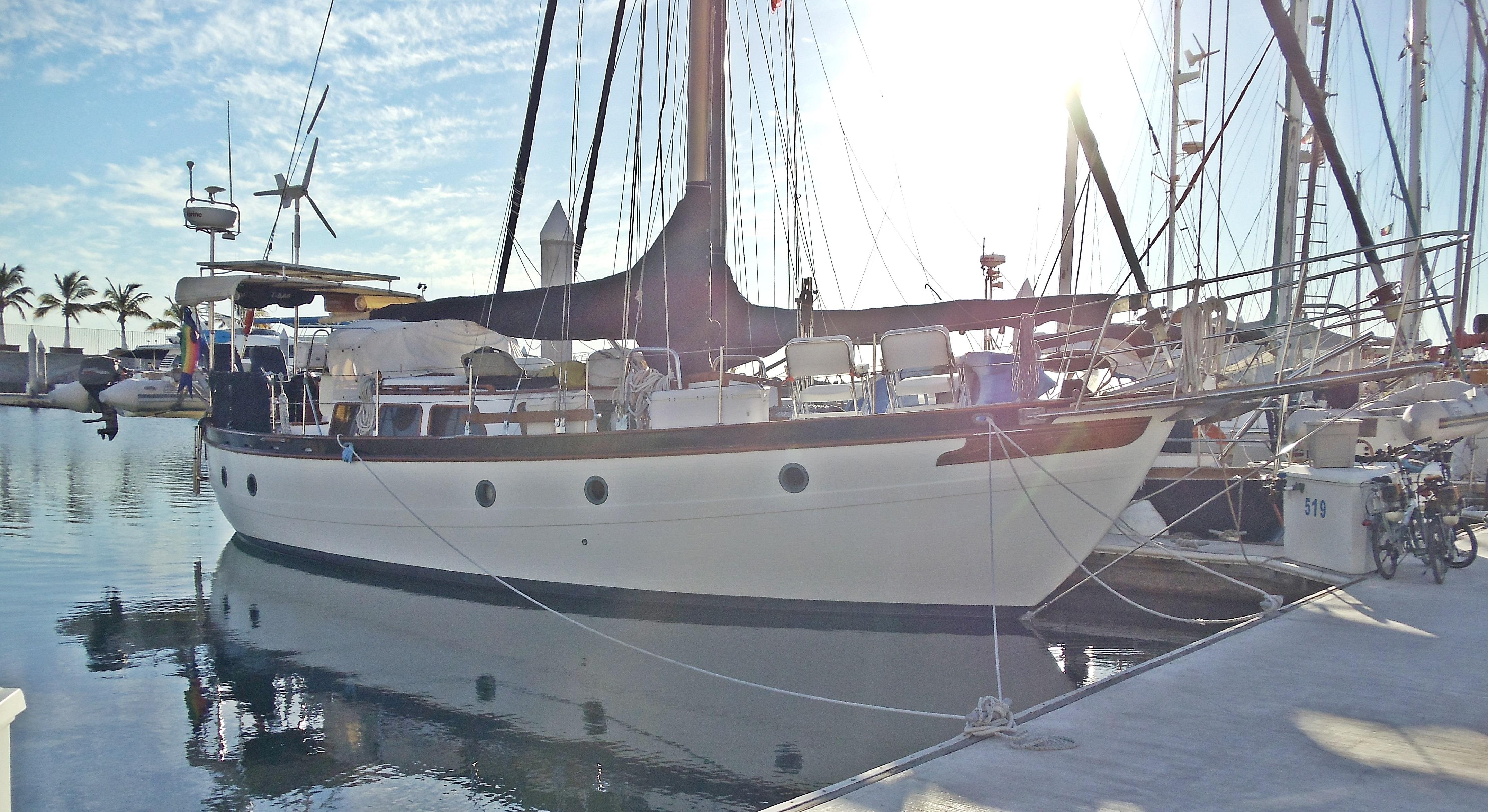 43' Spindrift Pilothouse Cutter+Boat for sale!
