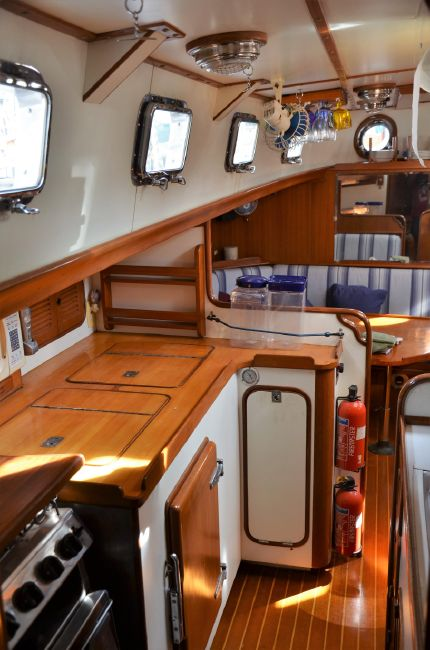 Mason 53 Sailboat Galley