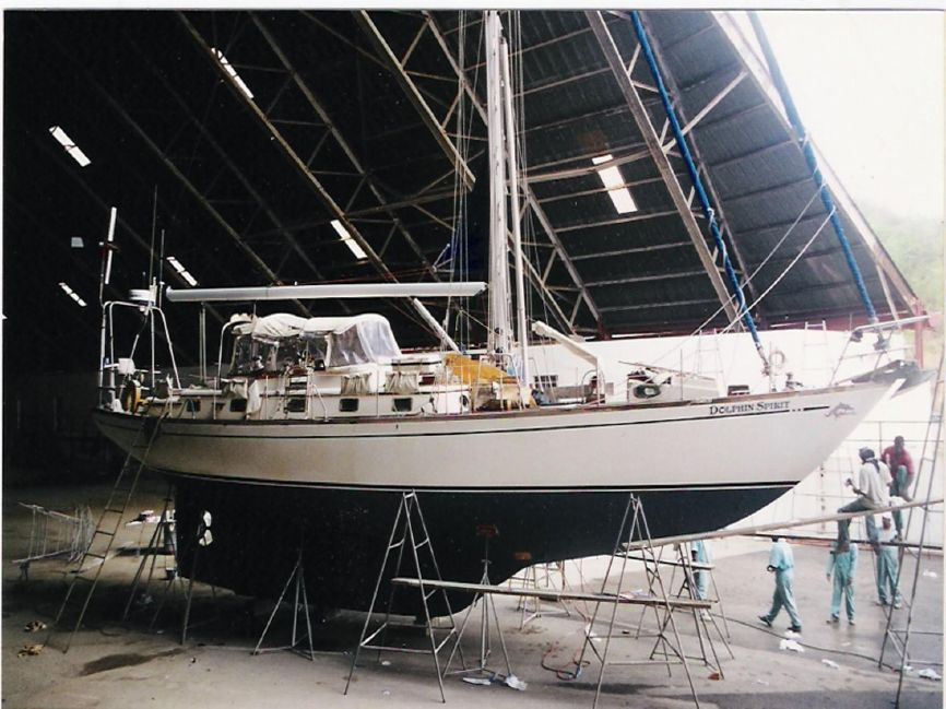 Mason 53 Sailboat in Shipyard