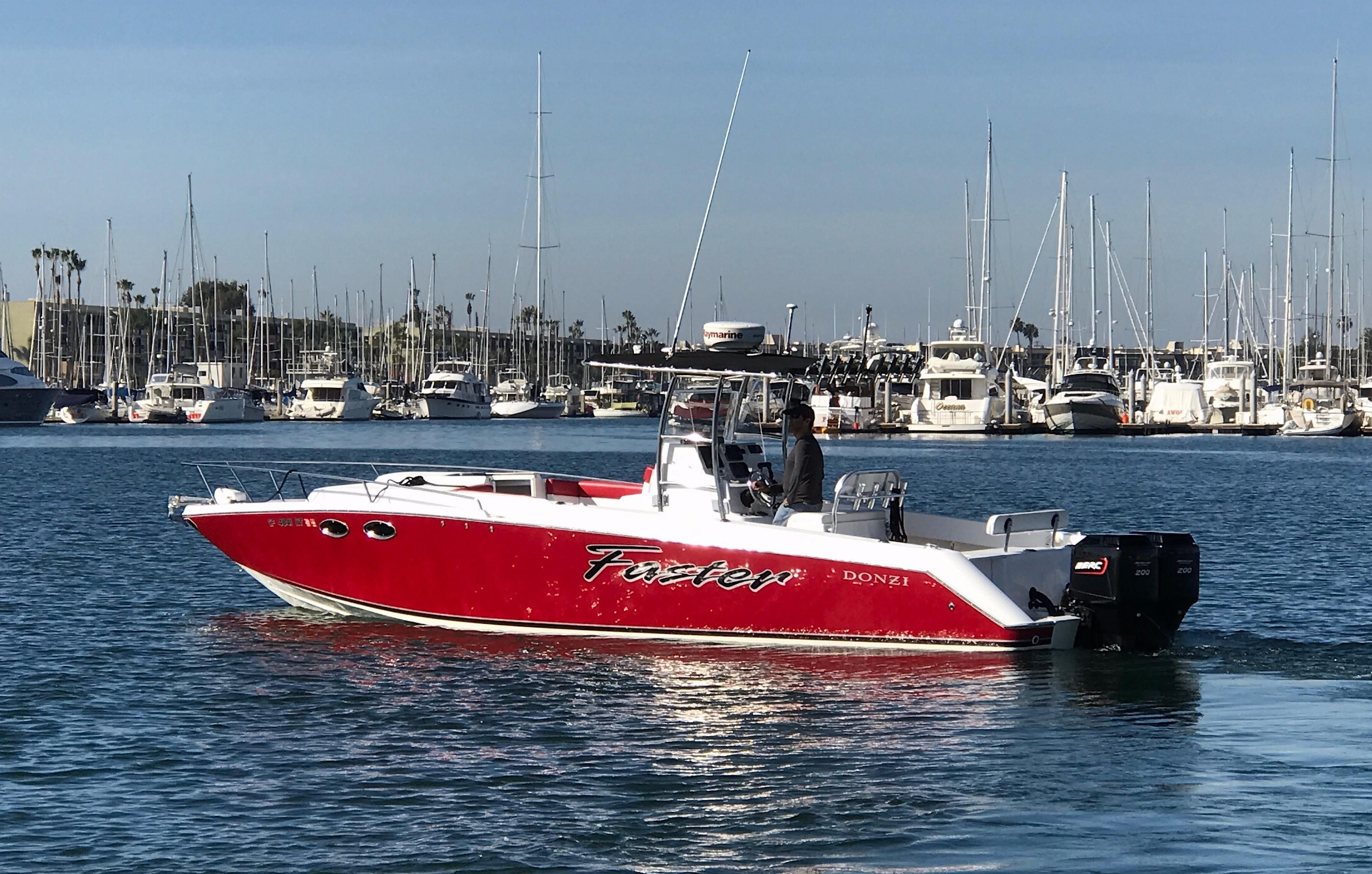 1987 donzi f 33 cuddy cabin power boat for sale www for Marina del rey fishing charter