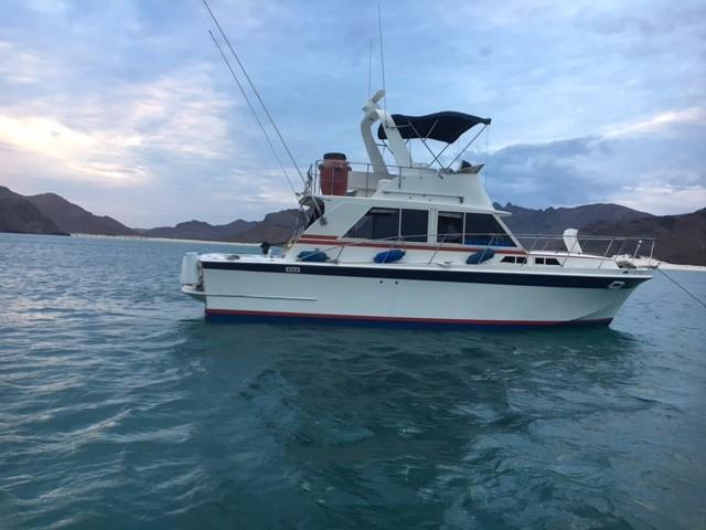36' Uniflite Sedan Fly Bridge+Boat for sale!