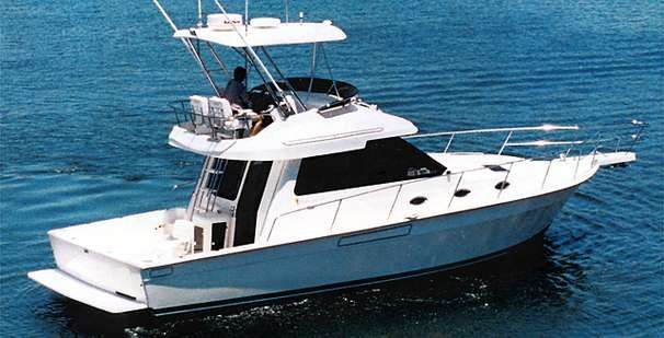 1989 mediterranean 38 convertible power boat for sale for Deep sea fishing marina del rey