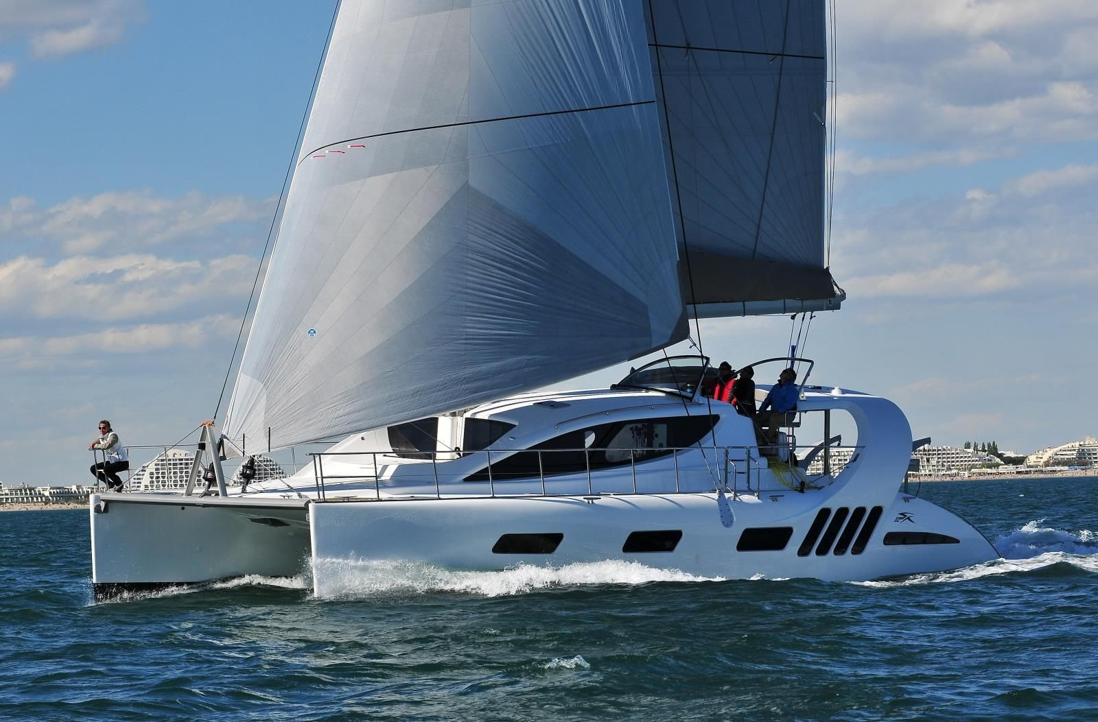 50 Ft Yachts Bering 80 Veda Steel Expedition Yacht Underway