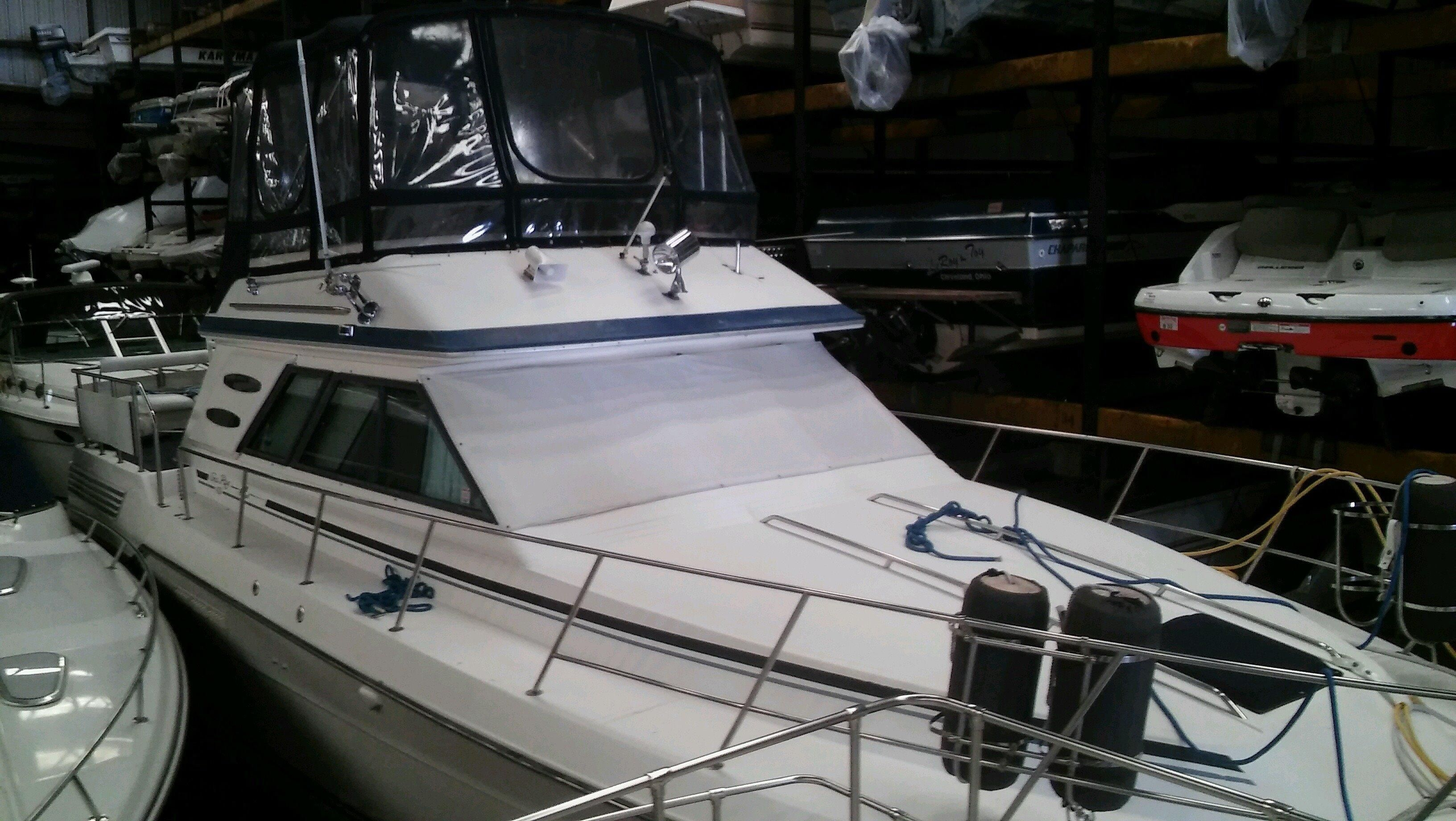 1987 sea ray 410 aft cabin power boat for sale www Cleveland motors inc
