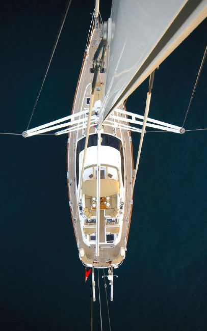 Oyster 72 Sailboat Top View