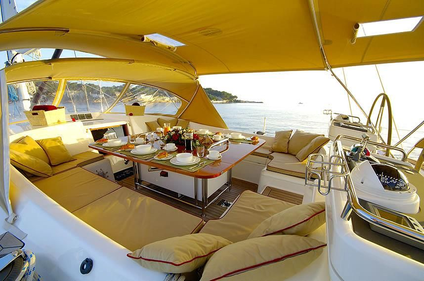 Oyster 72 Yacht Cockpit