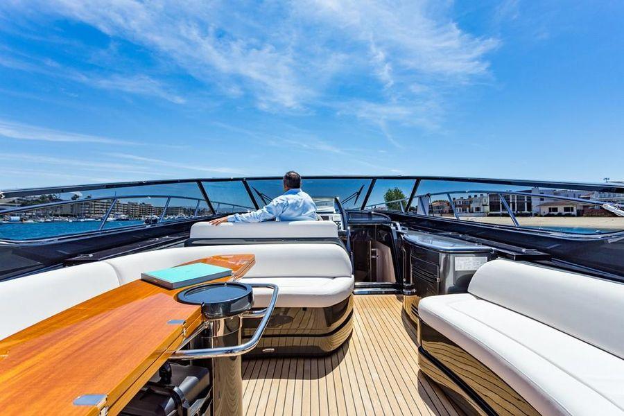 Riva 63 Virtus Luxury Express Cruiser Yacht Underway