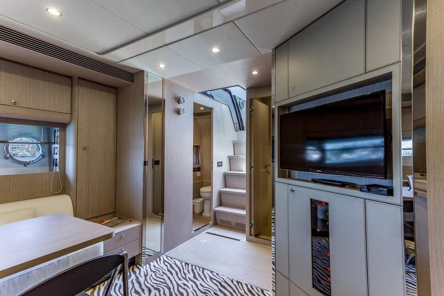 Riva 63 Virtus Luxury Yacht Interior Salon Entertainment