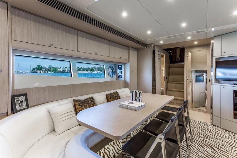 Riva 63 Virtus Luxury Yacht Salon Interior