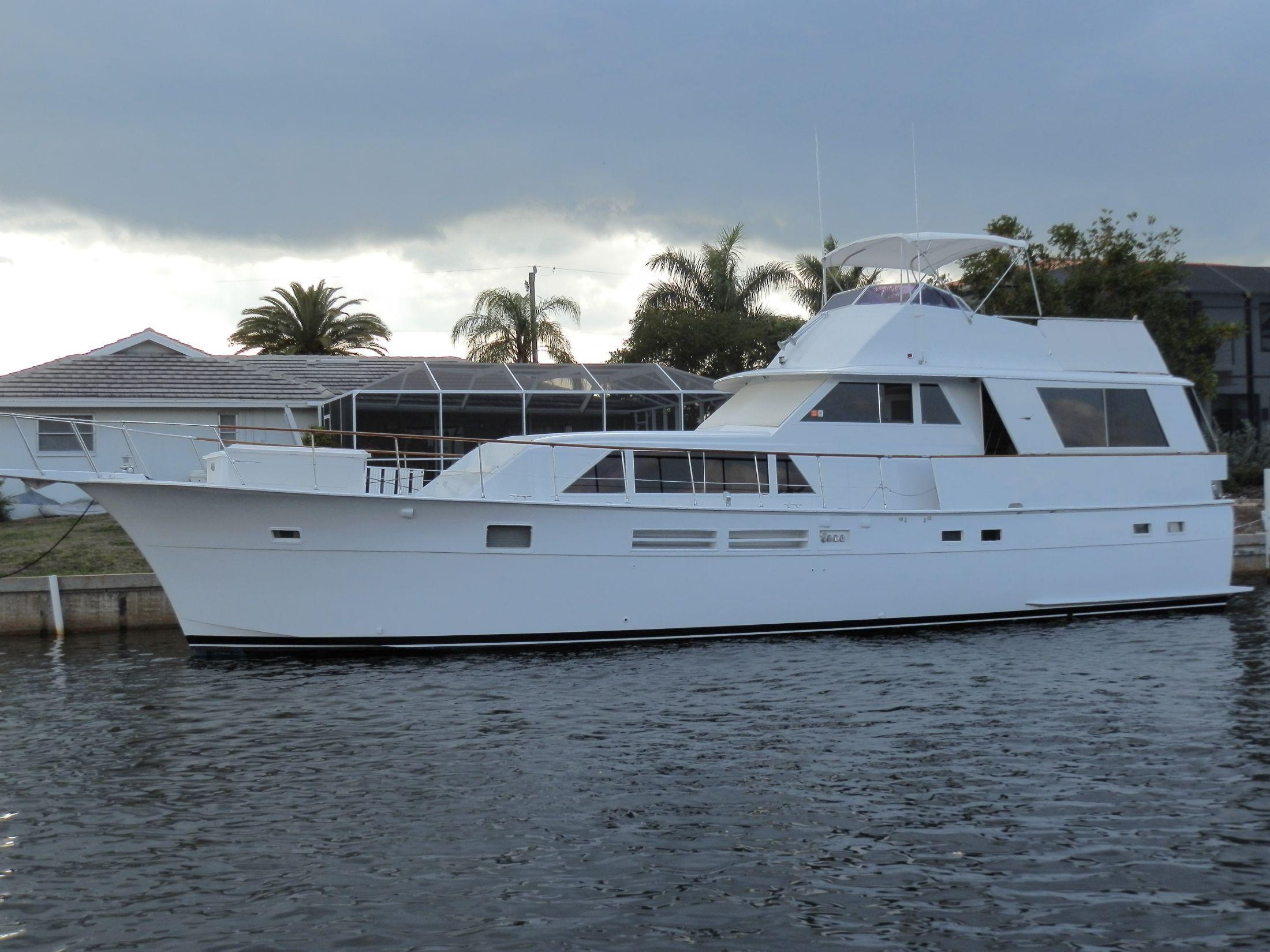 1975 hatteras 58 motor yacht motor b d til salg www for Port motors west palm beach