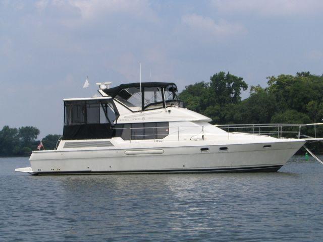 1995 Bayliner 4587 Cockpit Motor Yacht Power Boat For Sale - www