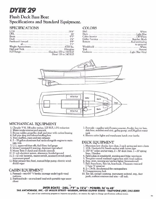 1975 Dyer 29 Bass Boat Power Boat For Sale - www yachtworld com