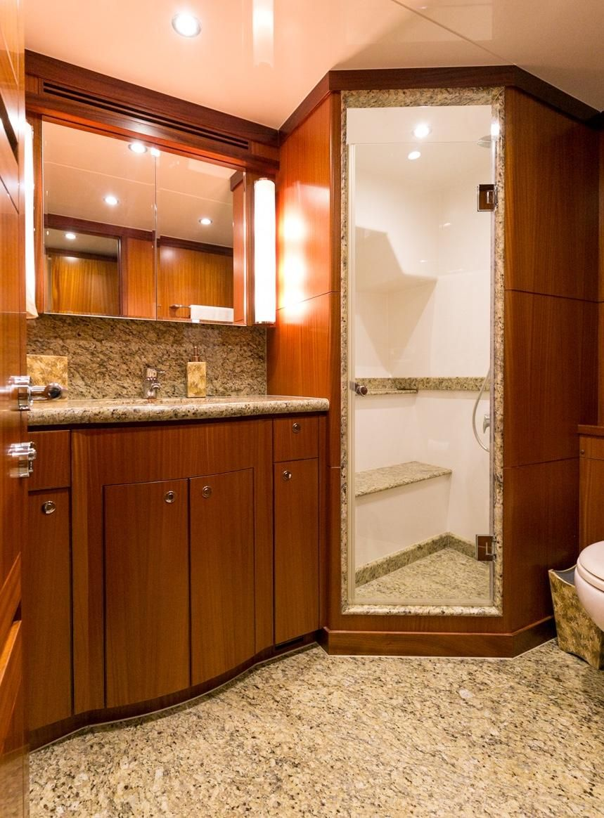 Ocean Alexander 88 Luxury Yacht Bathroom Shower