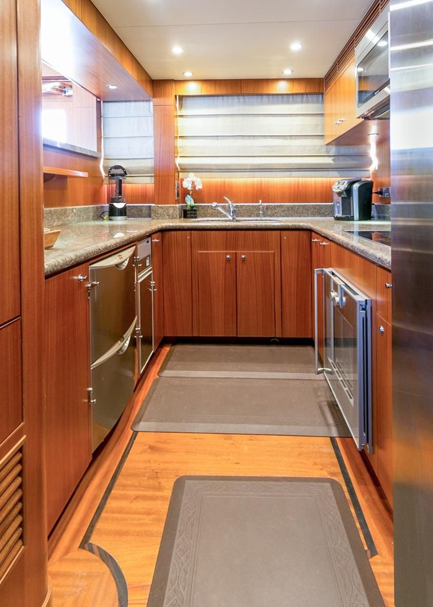 2010 Ocean Alexander 88 Luxury Yacht Kitchen Galley