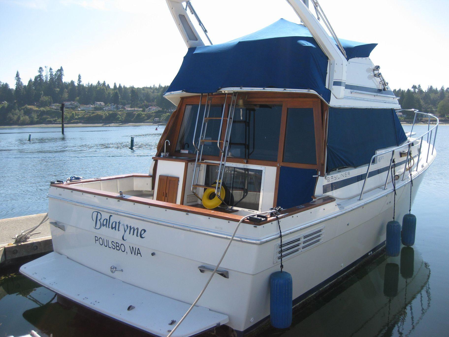 1987 bayliner 3270 motoryacht power boat for sale www. Black Bedroom Furniture Sets. Home Design Ideas