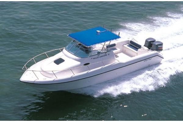 2007 gulf craft walkaround 31 power boat for sale www