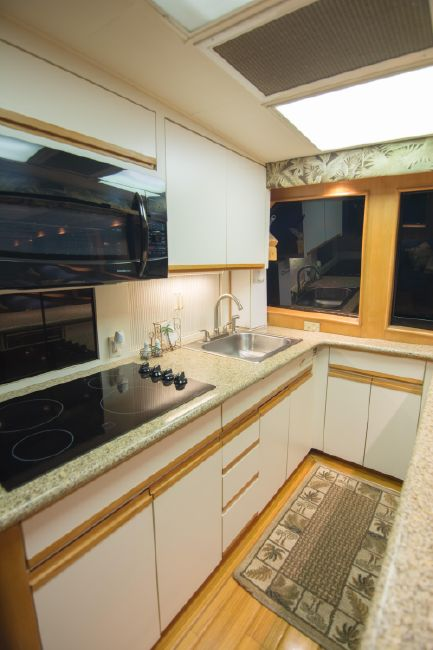 Hatteras 58 Convertible Galley Kitchen