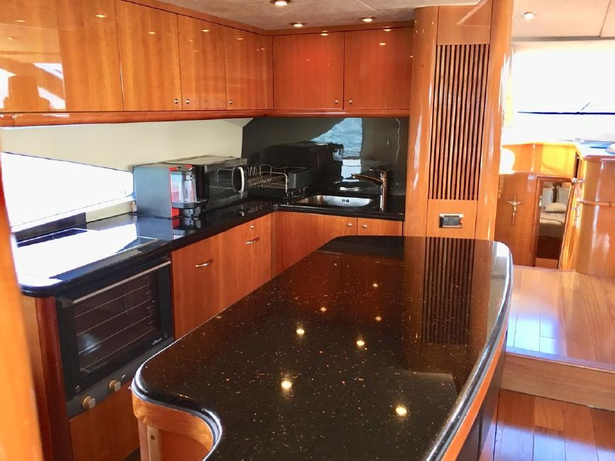 Sunseeker 82 Yacht Galley Kitchen
