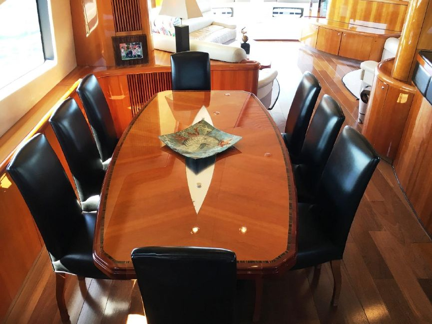 Sunseeker 82 Yacht Dining Table