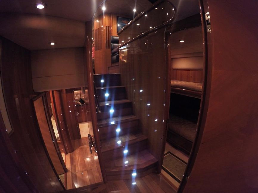 Sunseeker 82 Yacht Stairwell