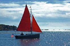 1997 Cornish Shrimper Gaff-Rigged K/CB Sloop