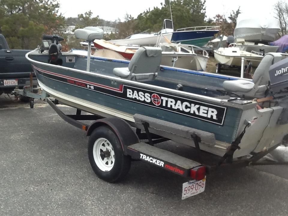 1986 bass tracker 16 39 fisherman power boat for sale www for Bass tracker fishing boats