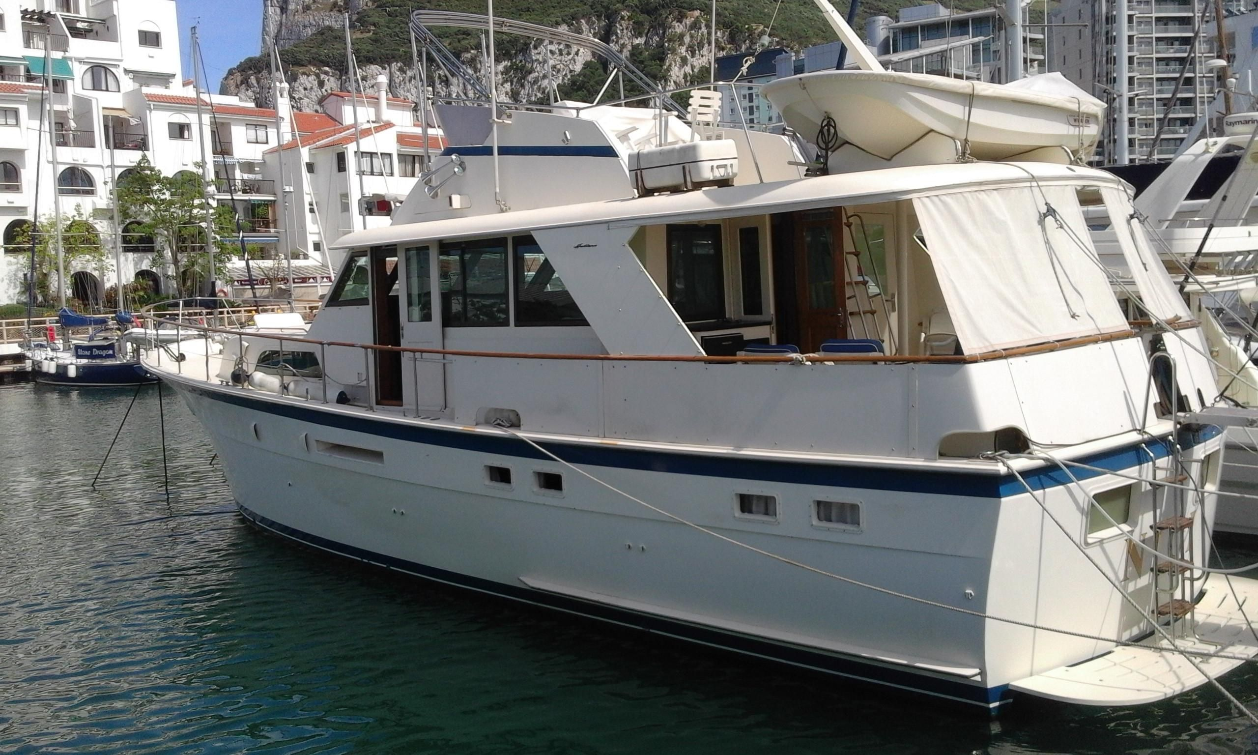 1984 hatteras 53 classic motor yacht power boat for sale for Vintage motor yachts for sale
