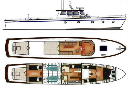 Classic wooden yacht plans pdf woodworking for Vintage motor yachts for sale