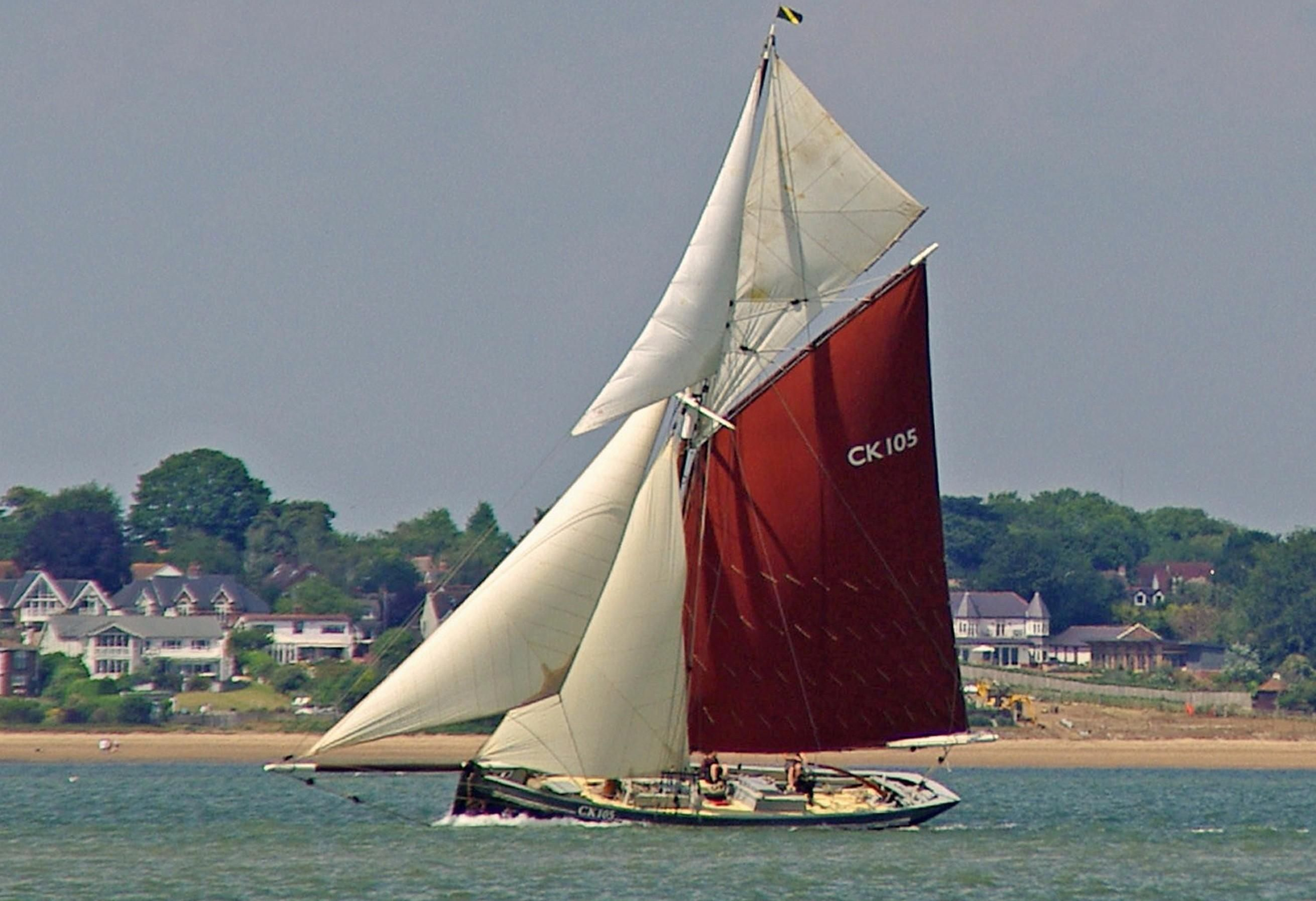 1912 Sailing Fishing Smack Gaff Cutter Sail Boat For Sale ...
