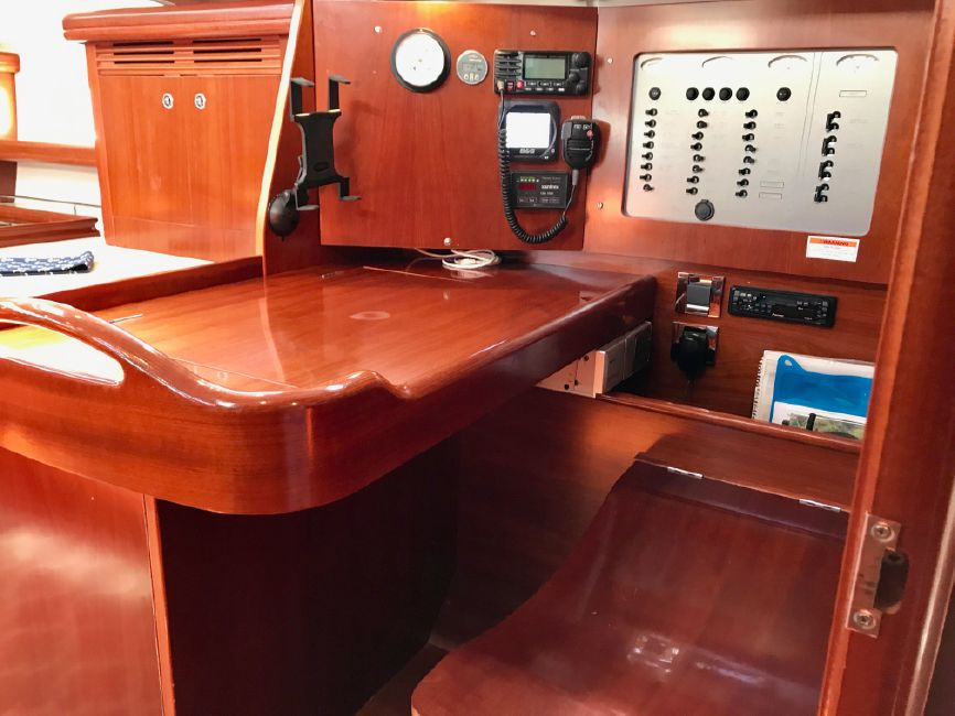Beneteau 523 Sailboat Navigation Station
