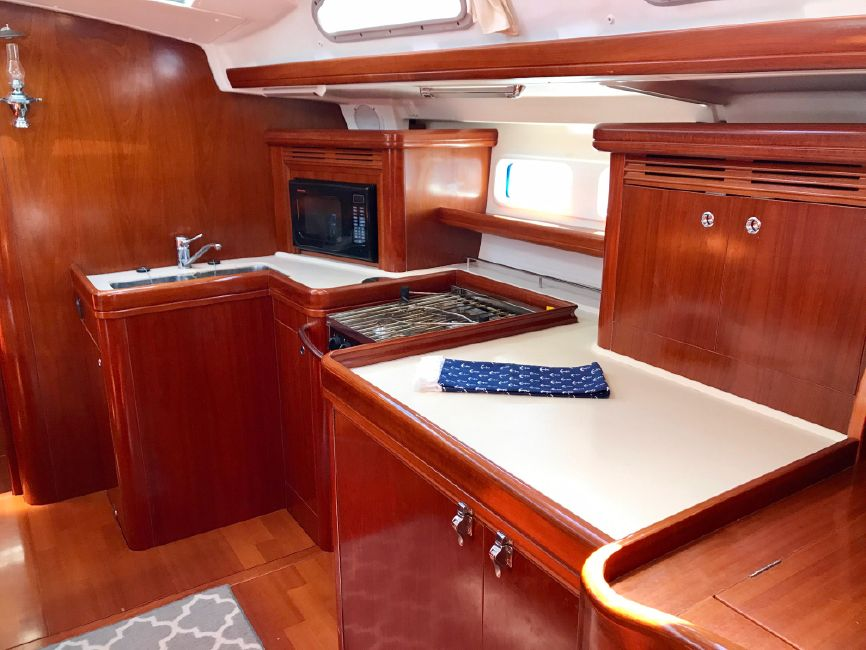 Beneteau 523 Sailboat Galley Kitchen