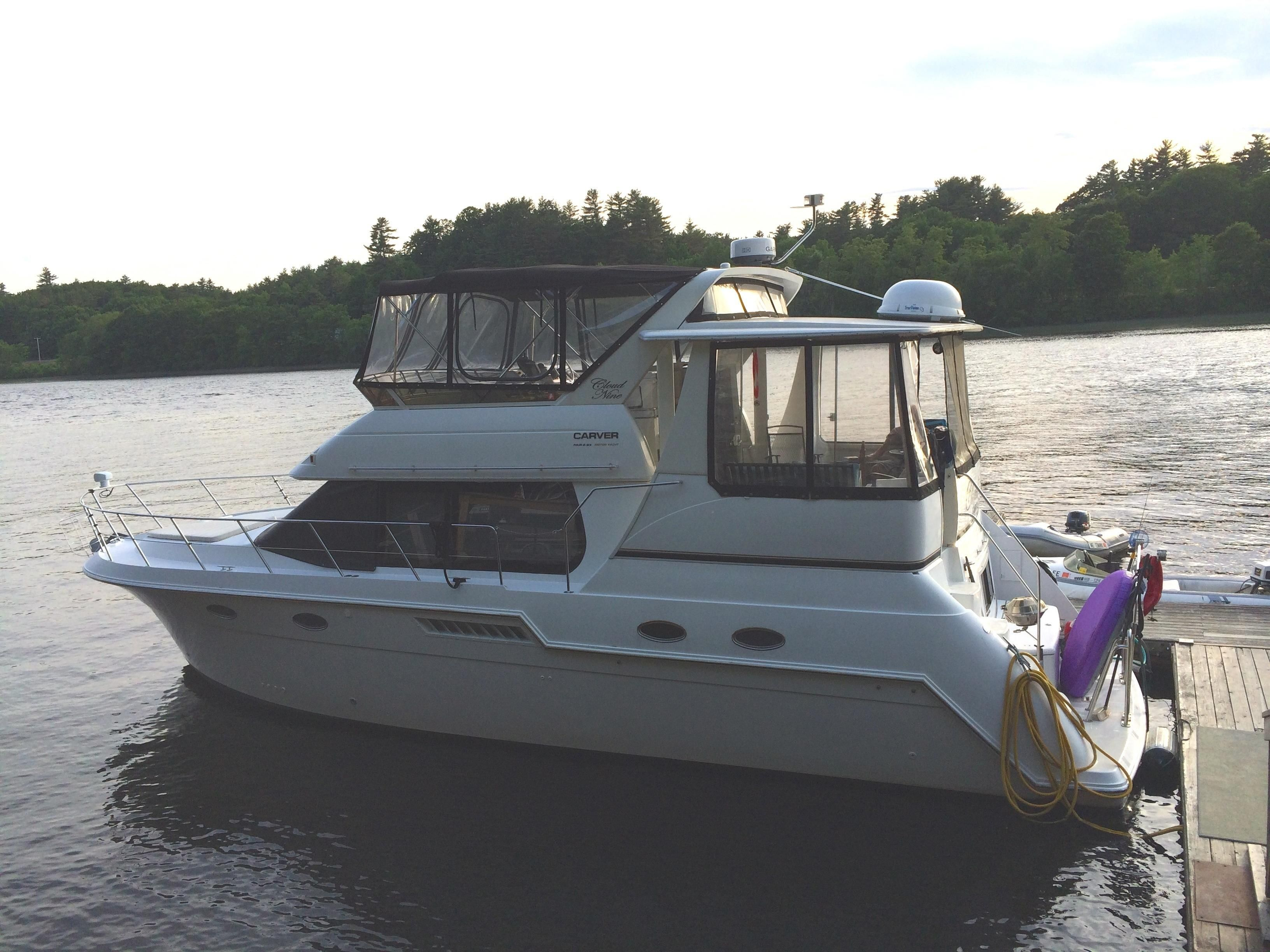 2001 carver yachts 406 aft cabin power boat for sale www for Best small cabin boats