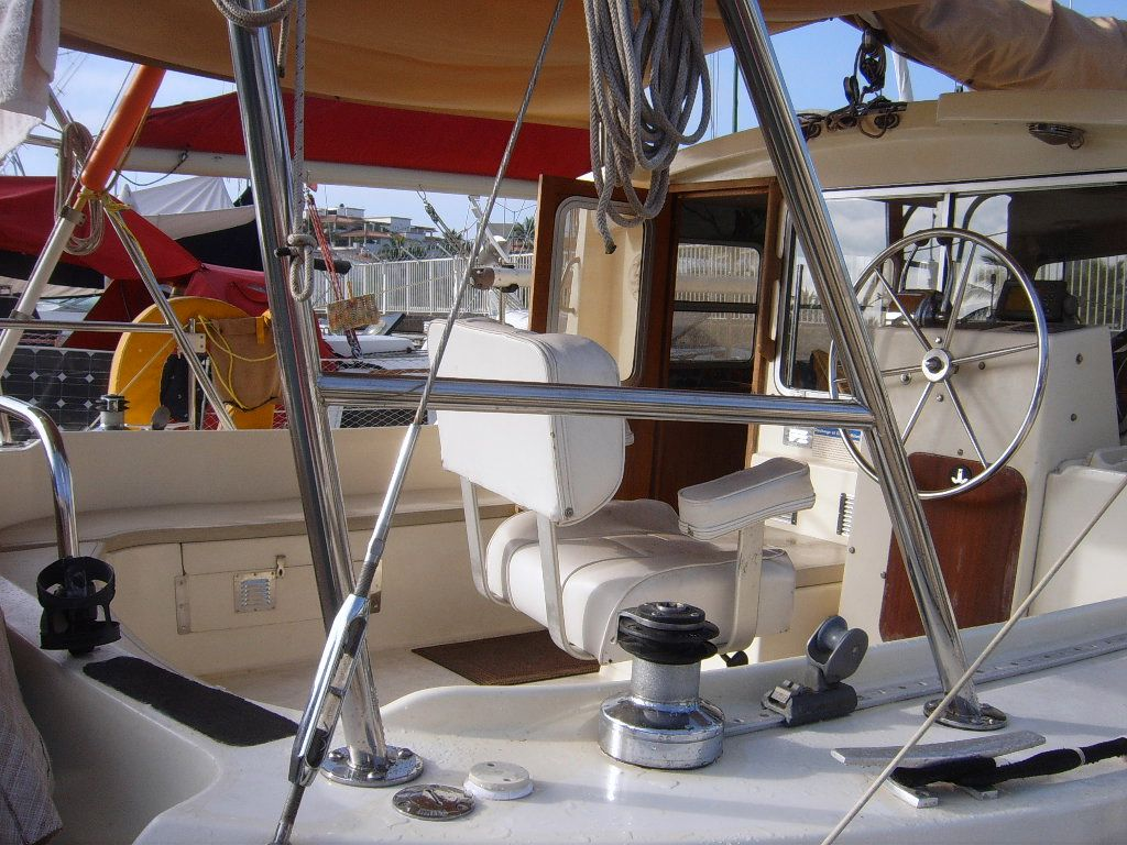 32' Fisher Pilothouse Catamaran+Mast