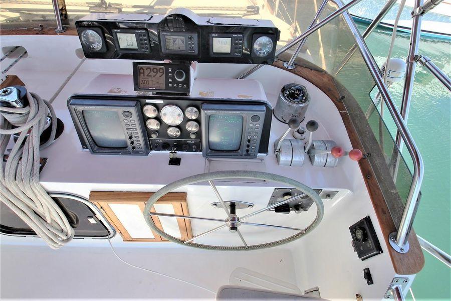 Cheoy Lee 63 Motorsailer Cockpit