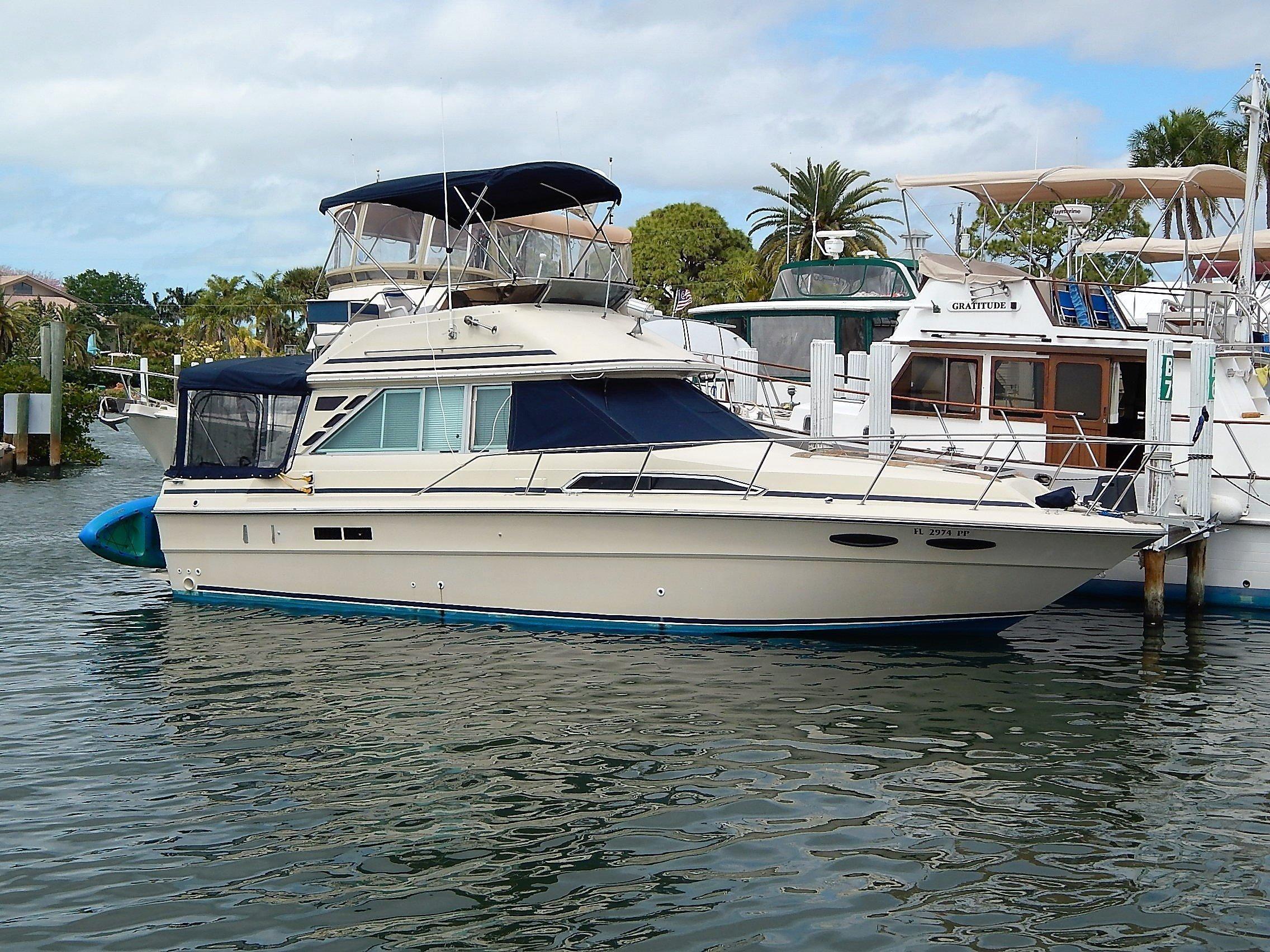 1986 Sea Ray 340 Sedan Bridge Power Boat For Sale - www ...