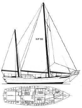 1973 Hudson Force 50 Pilot-House Ketch