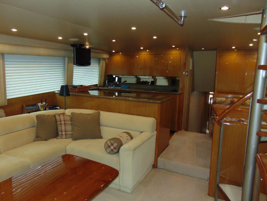 65 Viking Yachts Enclosed Flybridge Salon Galley