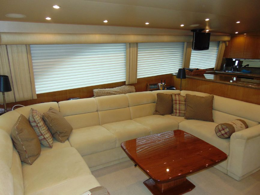 65 Viking Enclosed Flybridge Yacht Interior