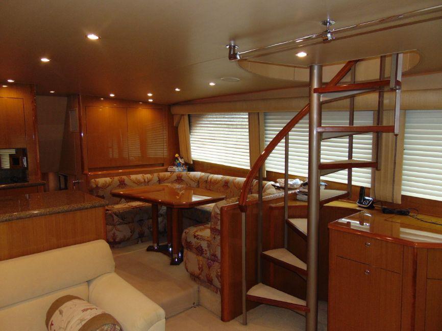 65 Viking Yachts Enclosed Flybridge Interior