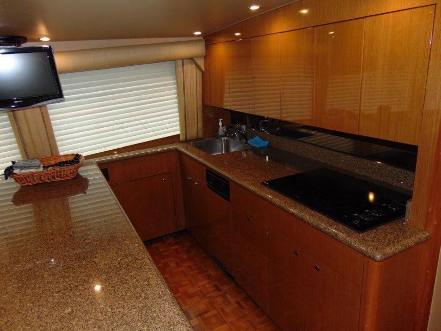 65 Viking Enclosed Flybridge Galley Kitchen