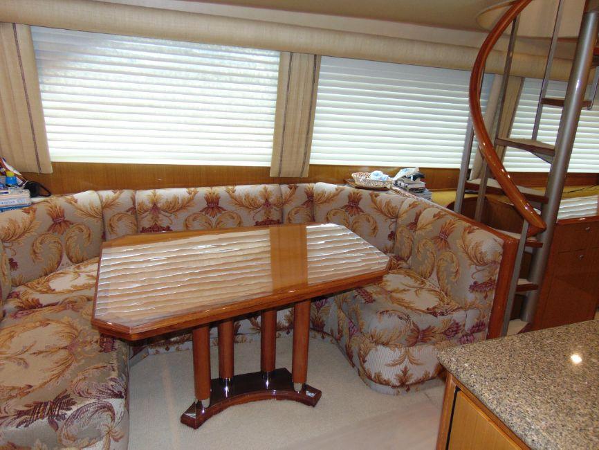 65 Viking Yachts Enclosed Flybridge Salon Dinette