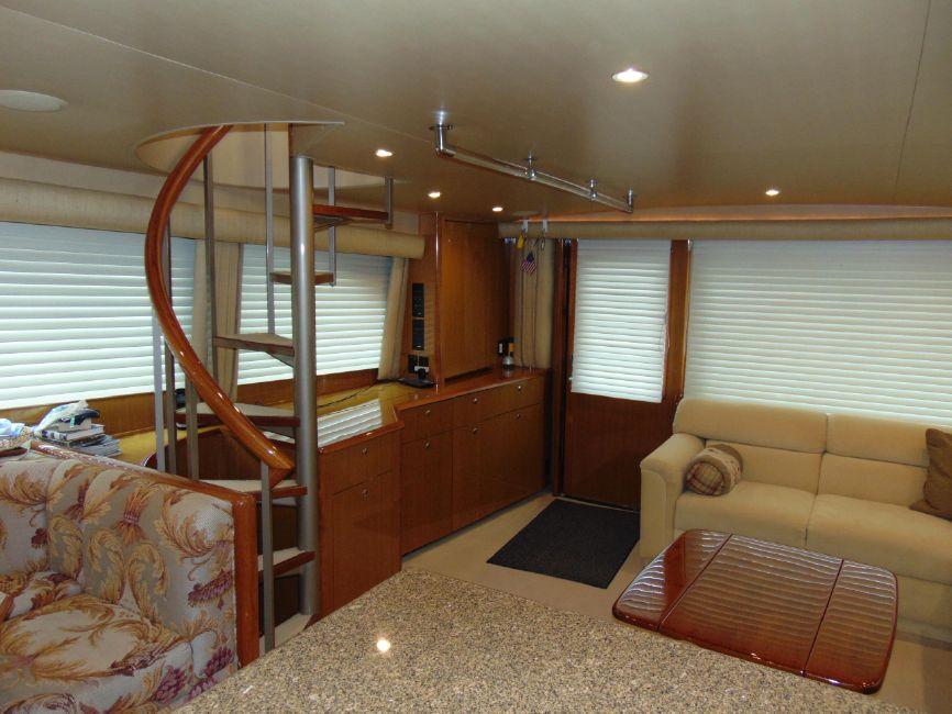 65 Viking Yachts Enclosed Flybridge Salon Interior