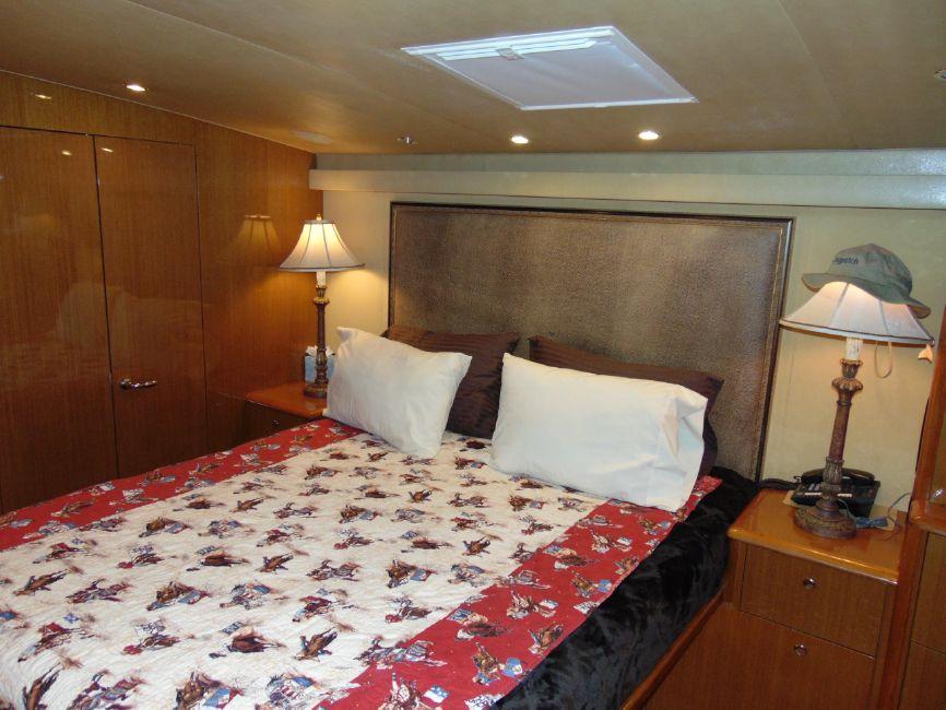65' Viking Enclosed Flybridge Master Bed
