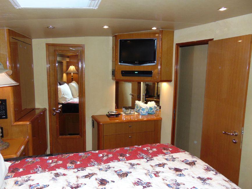 65' Viking Enclosed Flybridge Yacht Master Stateroom