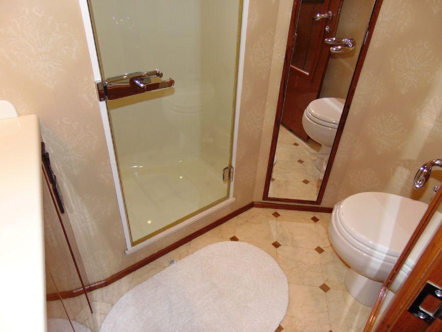 Viking 65 Enclosed Flybridge Master Head Bathroom
