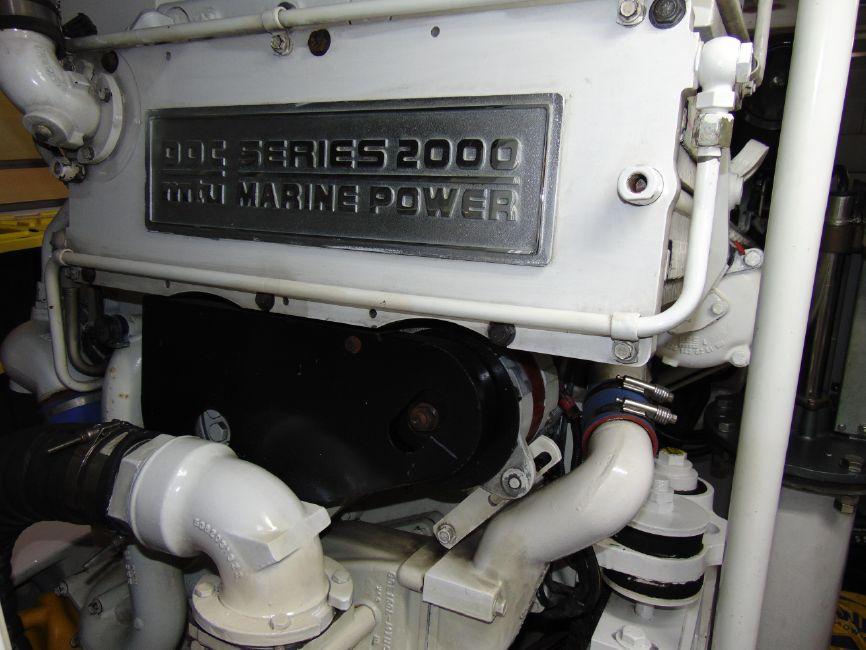 Viking 65 Enclosed Flybridge Engine Room
